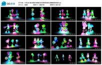 跳动图像节奏舞蹈 视频背景