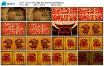 中国风之陕西老 剪纸年画戏剧背景视频