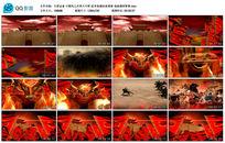 中国风之田单火牛阵武术表演视频背景