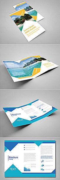 简约旅游社折页版式设计