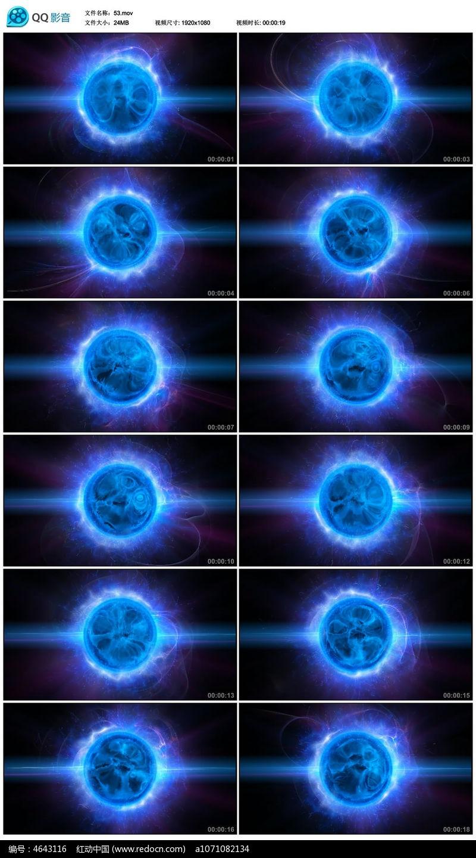 科技蓝魔球视频背景