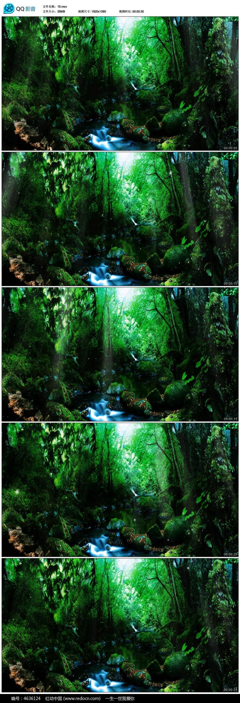 森林系欧式宫殿绿野仙踪婚礼led视频素材