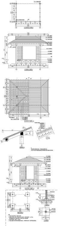 亭廊CAD图