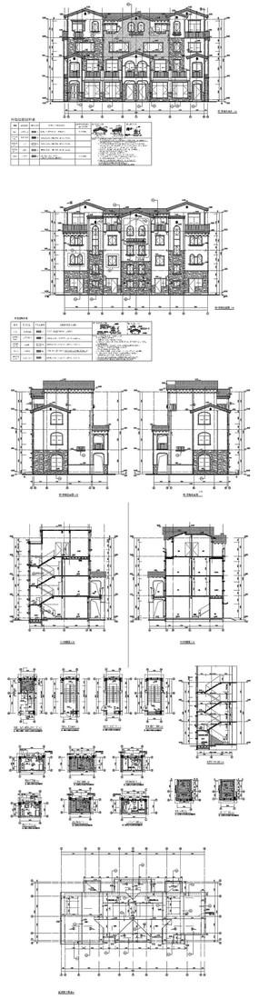西式别墅建筑CAD图