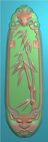 精品花草精雕模板图片下载精雕竹子