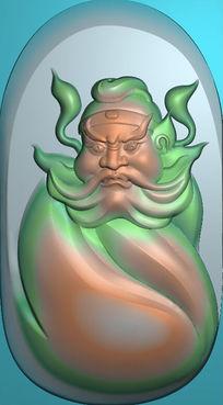 精品钟馗雕像精雕模板图片下载