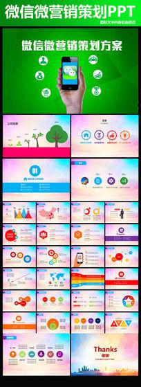 微信微营销策划PPT模板设计