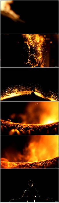 超炫粒子人屏互动秀LED背景视频素材
