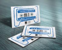 创意镂空磁带娱乐名片设计 EPS