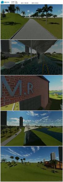高尔夫球场设计3D效果图视频