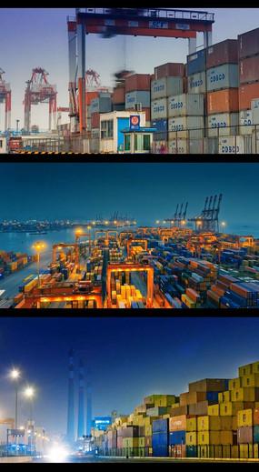忙碌的货运码头视频(快速镜头) mov