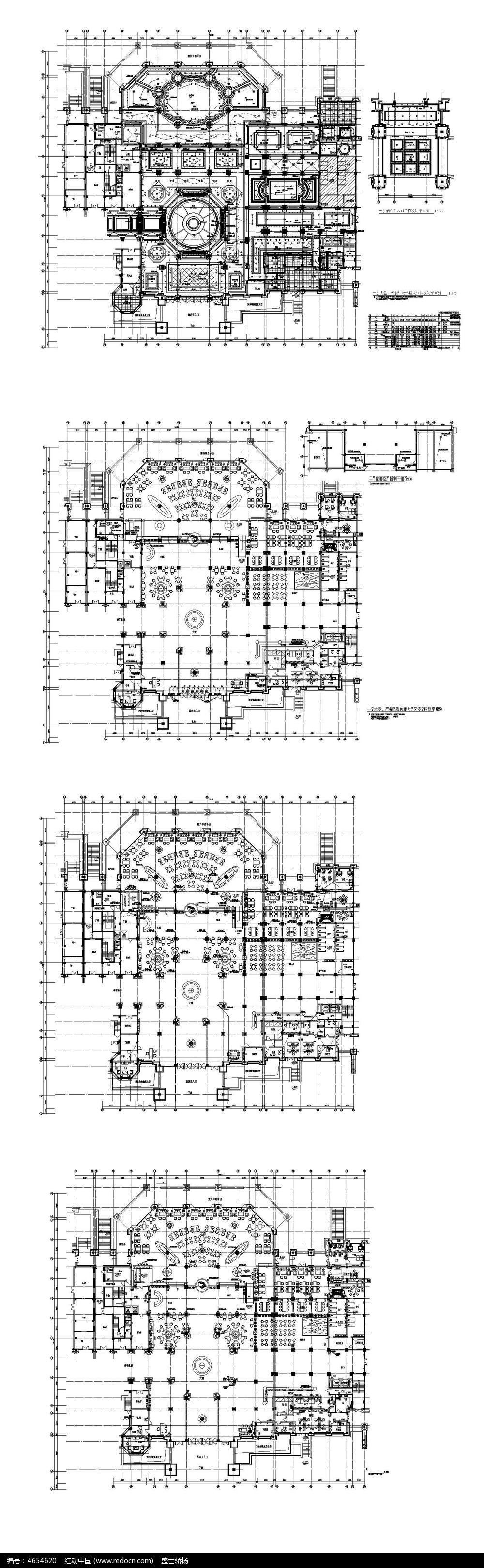 五星级酒店建筑平面图