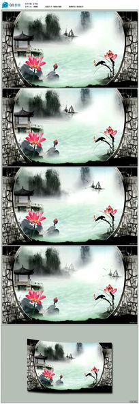 中国风水墨荷花视频