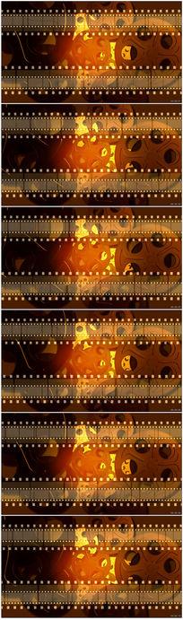 动态金黄电影影片胶卷胶片高清视频背景素材