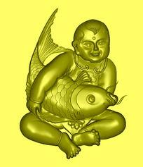 精品精雕模板图片下载 精雕幸福有鱼