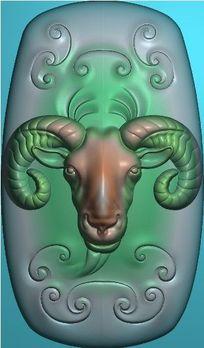 精品精雕模板图片下载精雕羊头配饰