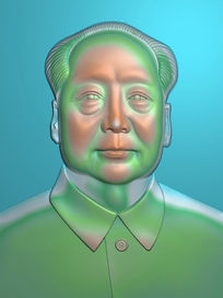 精品毛泽东头像精雕模板图片