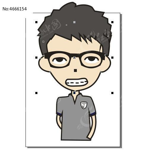 男生头像卡通图cdr素材下载