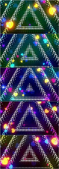 三角空间动感舞台背景视频