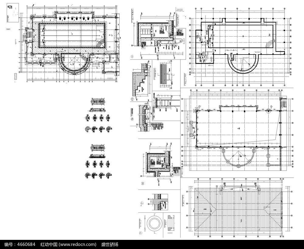 酒店建筑cad平面图