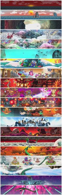 超赞中国风大屏幕背景视频
