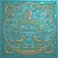 鲤鱼跃龙门雕刻图案模板