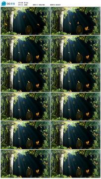 唯美森林绿3D幻影全息素材视频