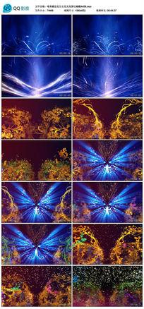 唯美生长花光效梦幻蝴蝶LED舞台背景视频