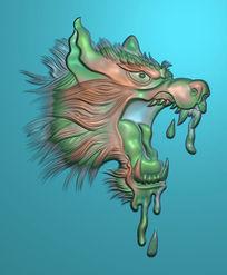 凶猛狼头精雕图设计