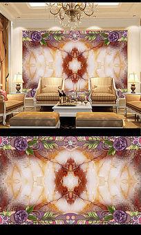 大气大理石电视背景墙