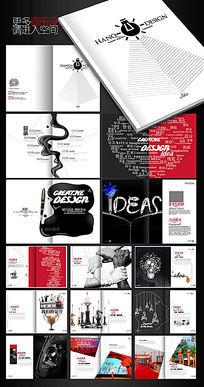 国外简约广告公司画册设计