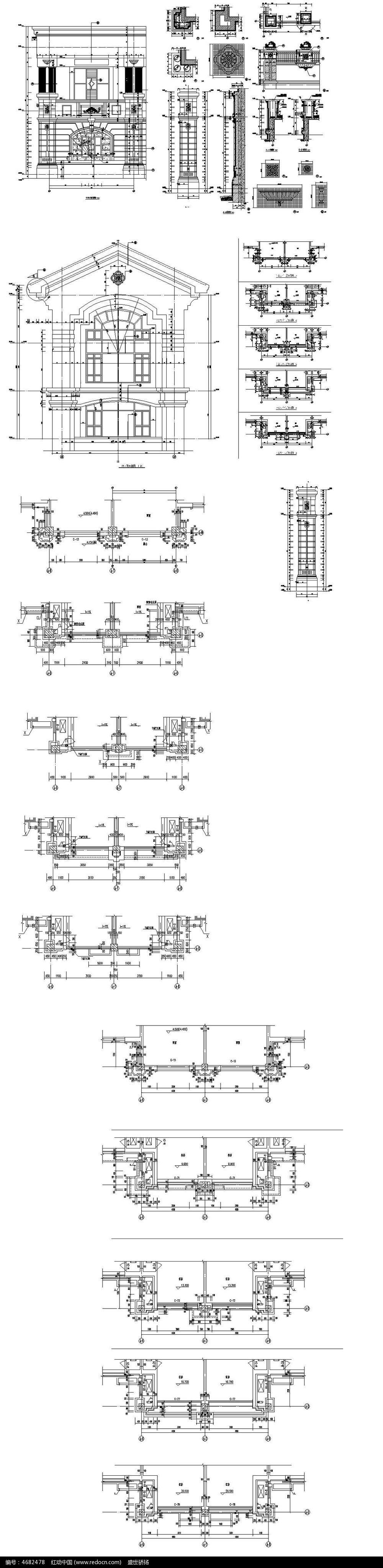 12款 酒店建筑cad施工图