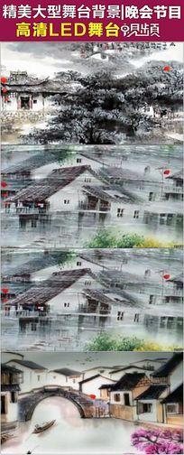 中国风水墨山水江南梦里水乡视频素材