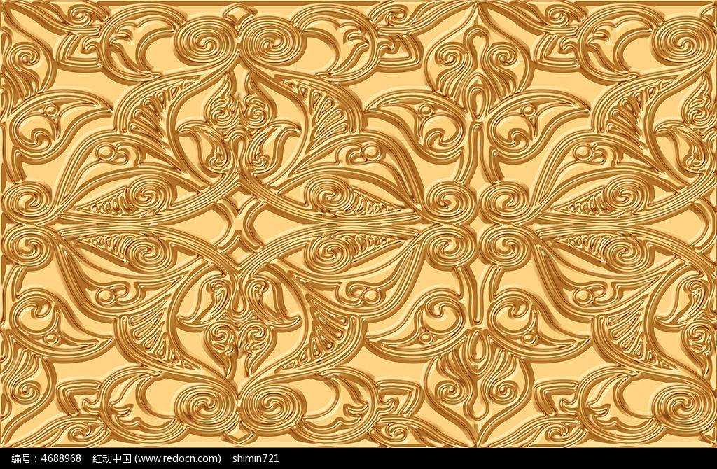 金色罗迪克欧式电视背景墙