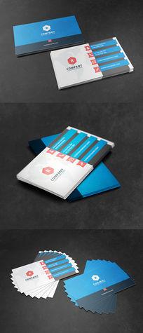 蓝色大气科技企业名片设计