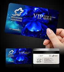 蓝色健身会所VIP会员卡
