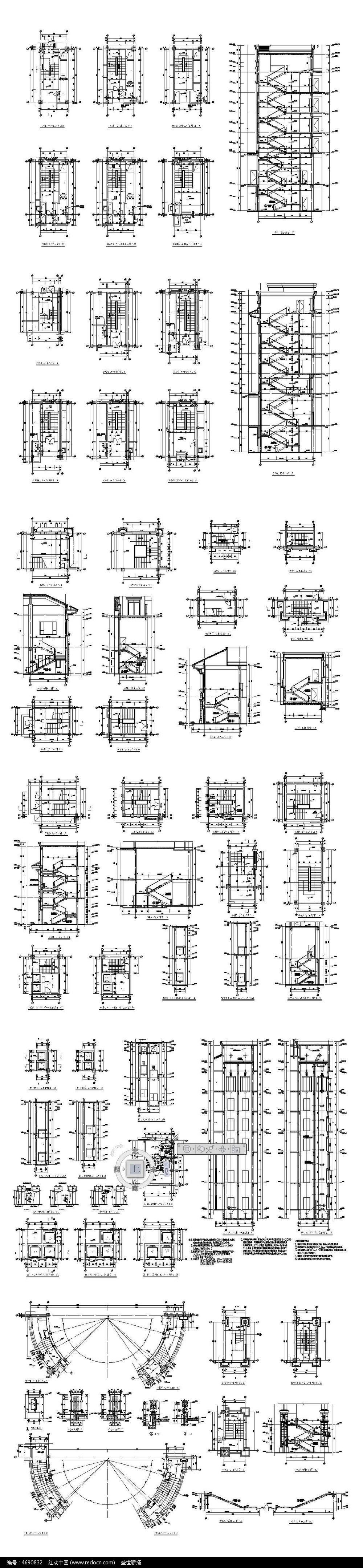 楼梯剖面cad图纸