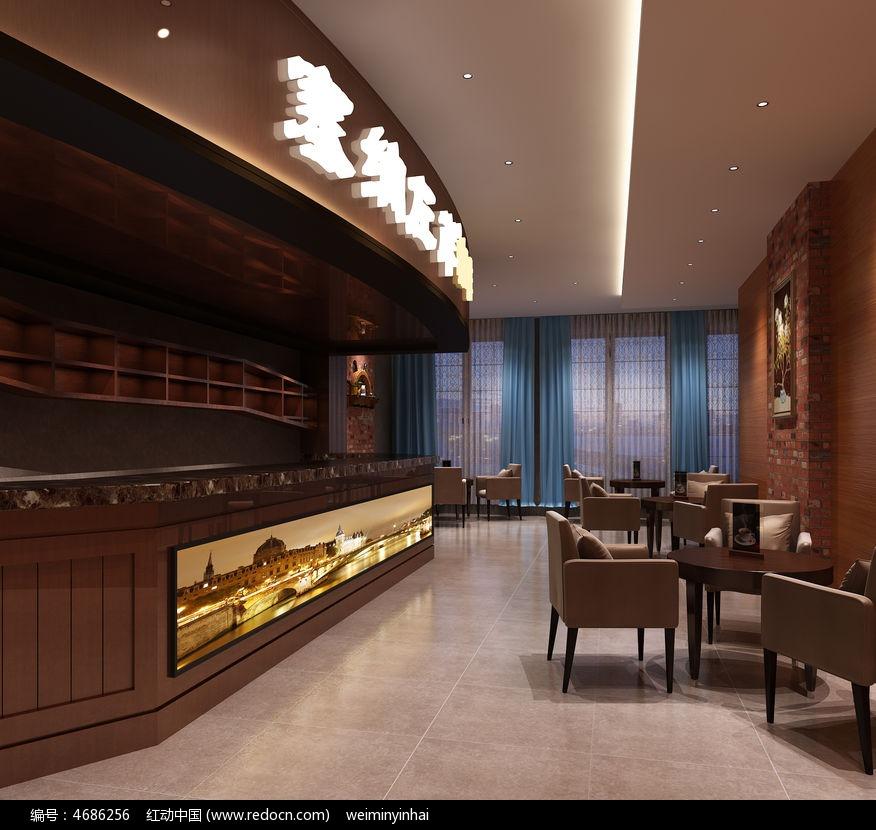 美式咖啡厅3d模型下载max图片图片