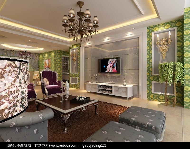 欧式客厅装修设计模型