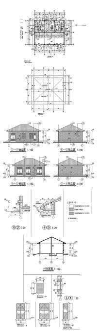 设备房建筑平面图CAD纸 dwg