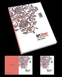 现代花纹创意画册封面