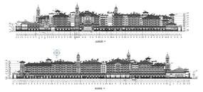 学校建筑效果图CAD图