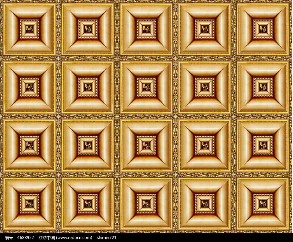 正方形金色电视背景墙tif素材下载_背景墙设计图片