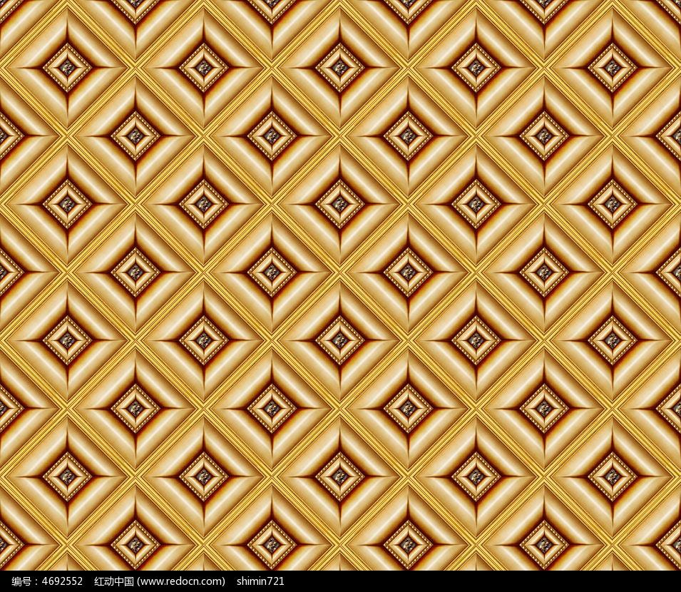 金色菱形欧式电视背景墙图片