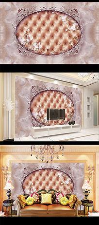 欧式大理石皮革软包背景墙