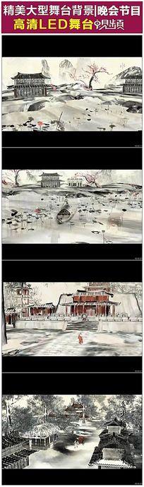 唯美中国水墨古典建筑视频素材