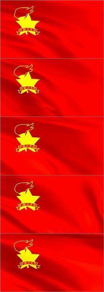 中国少先队队徽视频素材