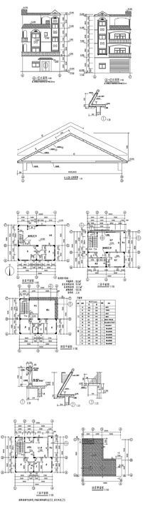 15款 私家建筑房子CAD图纸