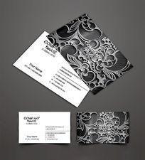 金属花纹欧式名片设计