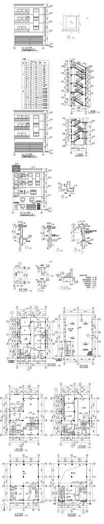 住宅建筑CAD图 dwg